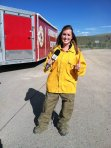 Reporting on the 2 1/2 Mile Fire, Fort Hall, Id